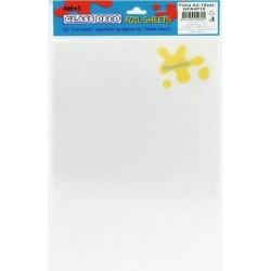 AMOS GLASS DEKO GFA4P10 Blank Vinyl Decoration Sheets 10 pcs