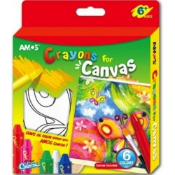 """Crayons for canvas (6 colors, canvas on a frame with an outline of the picture) """"Butterfly"""" AMOS CRX5P6CV-B"""
