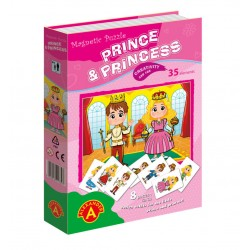 Game with magnets Alexander Magnetic Puzzle Dressing Up Prince & Princess 1753