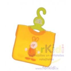 Feeding bib Artesania Beatriz Orange Rabbit 6154