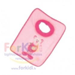 Feeding bib Artesania Beatriz Pink Cat 6154
