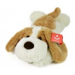 Plush toy Aurora Dog Lying Brown Beige 50cm 35103