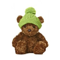 Plush toy Aurora Wagner Bear With Green Knitted 22cm 73884