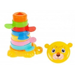 Educational toy - pyramid Bam Bam Happy Tower Tiger 428984