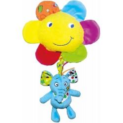 Soft musical toy Biba Toys Elephant Pull Music JF135