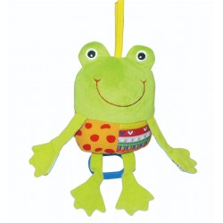 Soft musical toy Biba Toys Funny Frog Musical Pull String GD118
