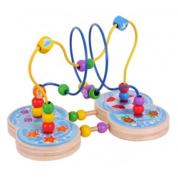 Developing wooden toy - active loop Big Jigs Marine Bead Frame BB087