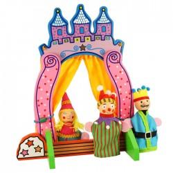Developing wooden toy Big Jigs Finger Puppet Theater BJ243