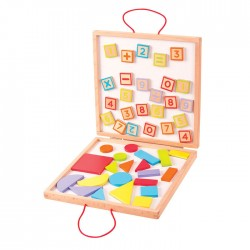 Developing wooden toy Big Jigs Magnetic Numbers and Shapes Case BJ439