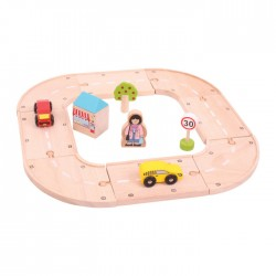 Wooden educational toy Big Jigs My First Roadway BJT030