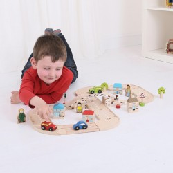 Wooden educational toy Big Jigs Figure of Eight Roadway BJT031