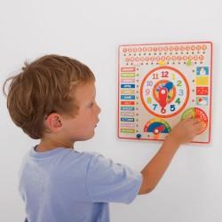 Developing wooden toy Big Jigs Calendar and Clock BJ526
