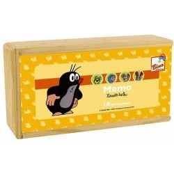Wooden board game Bino Memo Make a Pair Mole 32 pcs. 13713