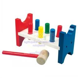 Wooden educational toy knocker Bino Toc Toc 82134