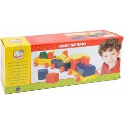 Wooden educational toy Bino Train With Blocks 82141