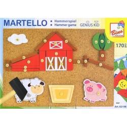 Wooden educational toy Bino Hammerspiel Bauernhof 82198