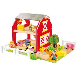 Wooden toy Bino Farm with Animals 82222