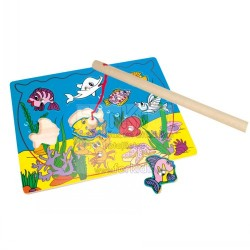 Wooden game Bino Fishing Magnetic Game Puzzle 82763