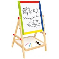 Wooden educational toy Bino Double Sided Blackboard 83653