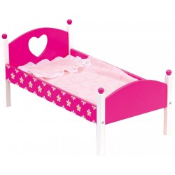 Wooden toy Bino Doll Bed including Bedding 83700