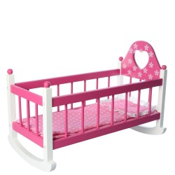 Wooden toy Bino Doll Cradle including Bedding 83701