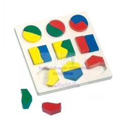 Wooden game Bino Geometric Shape Puzzle 84029