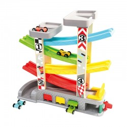 Wooden educational toy Bino Ramp Racer with Parking 84092