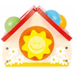 Wooden educational toy knocker Bino Pounding House 84199