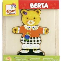 Wooden game Bino Puzzle Berta Put on Clothing 88048