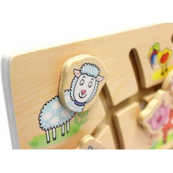 Wooden game Bino Will You Find the Right Head? Farm 88097