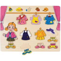 Wooden frame-insert (puzzle) Bino Puzzle Wardrobe 88110