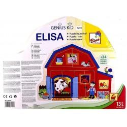 Wooden game Bino Puzzle Farm 88118
