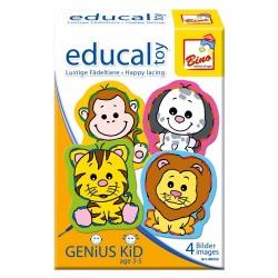 Educational game Bino Lacing Fun Animals 88252