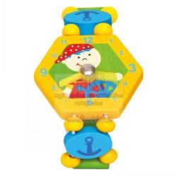 Wooden watch Bino Pirat Yellow 9086038