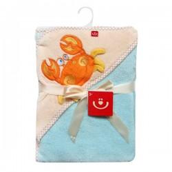 Soft plush towel with a hood Bobo Baby OKR-MF