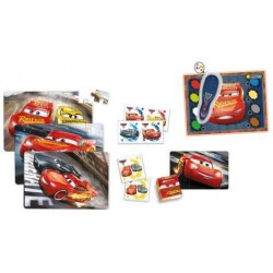 Clementoni Disney Cars 3 Edukit Mega 7in1 (memo, 3xpuzzle, domino, quizzy, cube puzzle) 11942