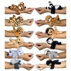 Bracelet Plush Huggers Wildlife 12 assorted 16x21cm 30476