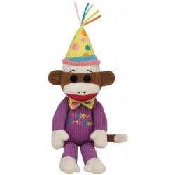 Plush toy Ty Beanie Babies Socks Monkey Happy Birthday 40952
