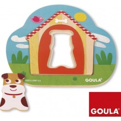 Wooden frame-insert (puzzle) Goula Wooden Inlay Puzzle Doghouse 17x18cm 53124