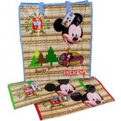 Disney Mickey Mouse Shopper Bag with Zipper 49x45x23cm AS2019