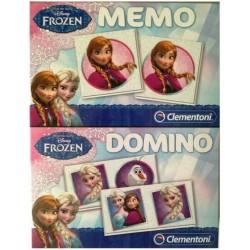 Clementoni Disney Frozen 2in1 set Memo Domino 17x22cm 98650