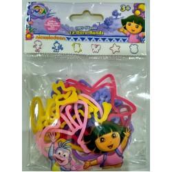 Bracelets 12 pieces Silly Bandz Dora 93028