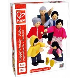 Wooden play set - dolls Hape Happy Family Asian 3502
