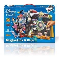 Game with magnets Diset Magnetics 4 Kits Disney and Pixar 46127