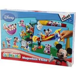 Game with magnets Diset Magnetics 4 Kits Mickey Mouse Club 46140