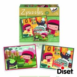 Diset Puzzle Fairy Tale Little Red Riding Hood 2x20 pcs 69961