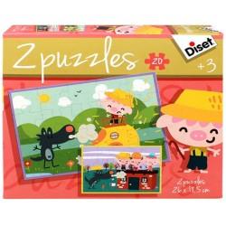 Diset Puzzle Fairy Tale The Three Little Pigs 2x20 pcs 69962