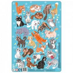 Dodo Puzzle Frame Cats 300180