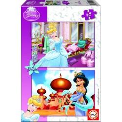 Educa Borras Puzzles Disney Princess Cinderella And Jasmin 15292