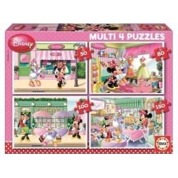 Educa Borras Multi Disney Minnie Mouse 4 Puzzles (50-80-100-150 pcs) 15614